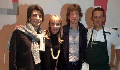 Rolling Stones comen en restaurante de Lima antes de su show