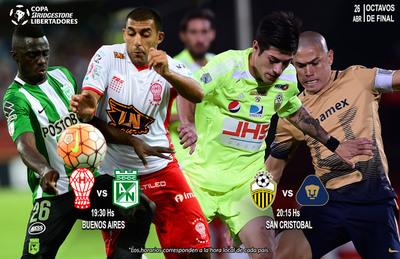 Libertadores: Con dos partidos el martes se ponen en marcha los octavos