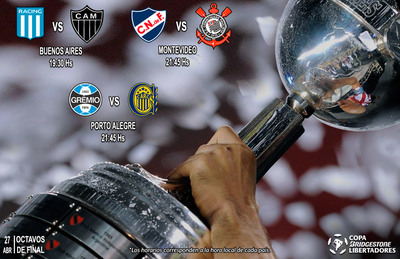 Con tres juegos, prosiguen los octavos de la Libertadores