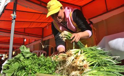 Feria de carnes y productos frutihorticolas en feria del Indert