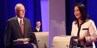 Fujimori y Kuczynski se cruzaron duro en un intenso debate electoral en Perú