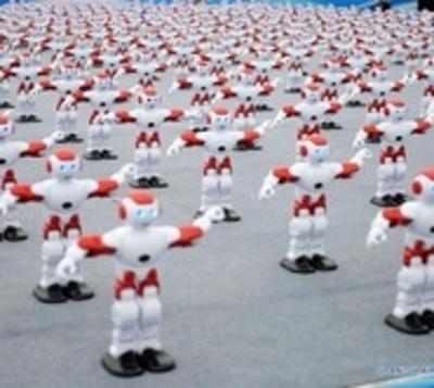 Más de mil robots bailarines baten un récord Guinness en China