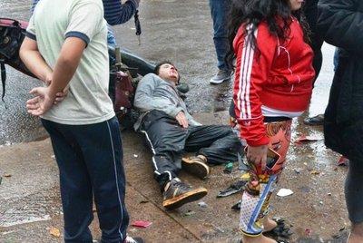 Choque deja un joven herido en Salto del Guairá