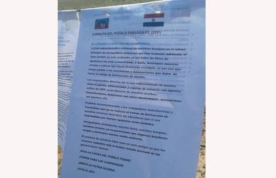 Investigan quién dejó panfletos en nombre del EPP