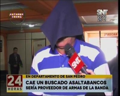 Buscado asaltabancos fue detenido en San Pedro