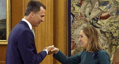 Felipe VI recibe a la presidenta del Congreso para iniciar una nueva ronda de consultas
