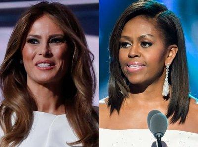 Michelle Obama recorre la Casa Blanca con Melania Trump