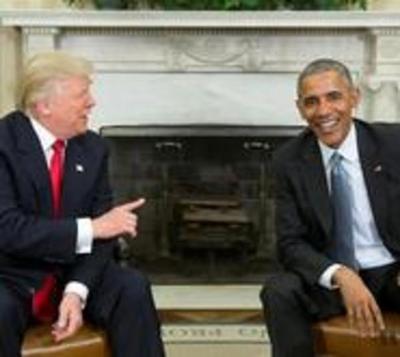 """Obama recibe a Trump en la Casa Blanca y le desea """"éxito"""""""