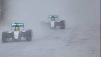 F1: Hamilton sobrevive al caos en Interlagos