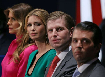 Trump a la deriva: Nombró a 3 de sus hijos en equipo de transición