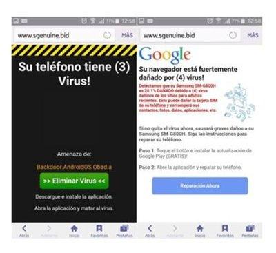 Advierten mensajes con virus en dispositivos Android