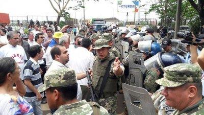 Heridos y detenidos tras protesta en CDE