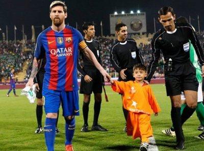 Murtaza cumplió su sueño de conocer a Messi