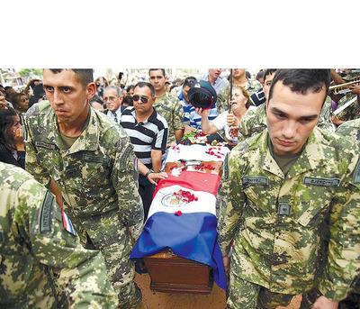 Herederos de los 8 militares abatidos por el EPP fueron beneficiados con indemnización