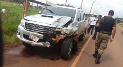 Accidente fatal en Pedro Juan Caballero