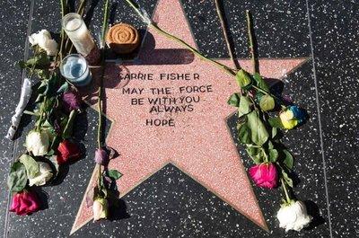 Fans de Carrie Fisher crean su estrella en el Paseo de la Fama de Hollywood