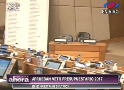 Diputados aceptan veto al Presupuesto 2017