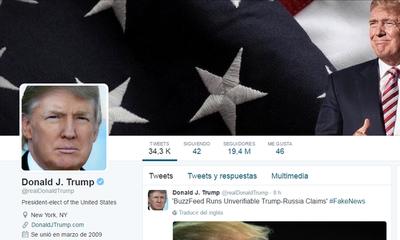 Dos de cada 3 estadounidenses quieren que Trump cierre su cuenta de Twitter