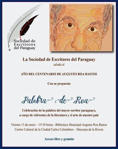 Escritores del Paraguay invitan para la celebración a Roa Bastos