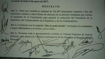 Los oficialistas desean impulsar la enmienda antes del mes de marzo