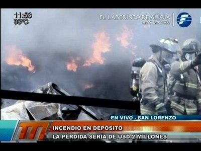 Incendio: las pérdidas ascenderían a los USD 2 millones