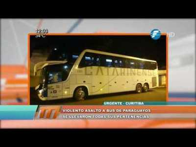 Violento asalto a un bus de paraguayos en Brasil