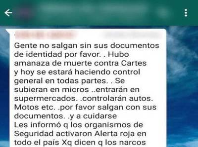 """Desmienten supuesta """"alerta roja"""" difundida vía Whatsapp"""