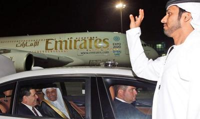 Presidente Cartes llegó a Emiratos Árabes