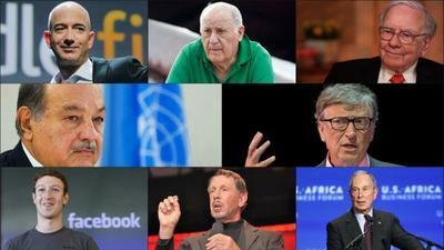 Quiénes son los ocho hombres que poseen la mitad de la toda la riqueza mundial