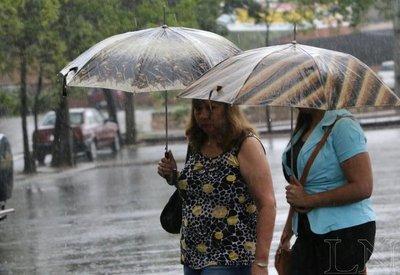 Lluvias seguirán durante la tarde