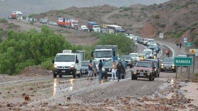 """Alud en Jujuy: """"Llegamos a pasar hambre"""", relata un compatriota"""