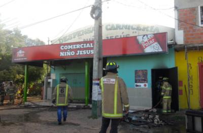 Incendio de gran magnitud en Remansito