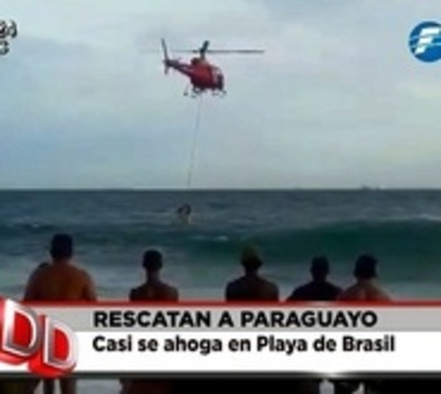 Espectacular rescate de paraguayo en playa de Copacabana