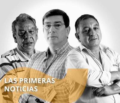 Las Primeras Noticias. Con Domiciano Pereira, Amado Farina e Ignacio Martínez