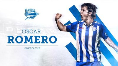 El paraguayo Óscar Romero se incorpora al Deportivo Alavés
