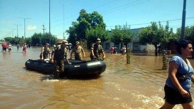 Un fallecido en la provincia de Buenos Aires por inundaciones