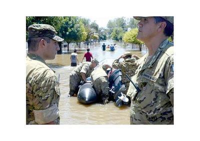 La Emilia, el pueblo argentino  que la lluvia dejó bajo agua
