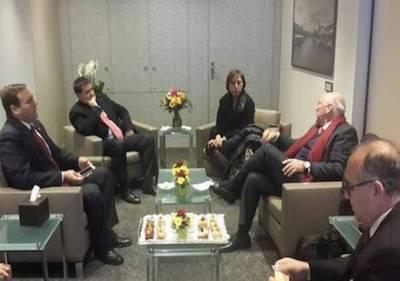 Cartes en Suiza para reunión con líderes mundiales
