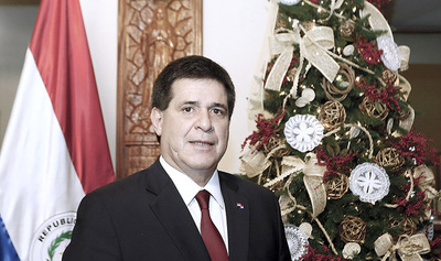 Cartes felicitó a la Itaipú por récord mundial