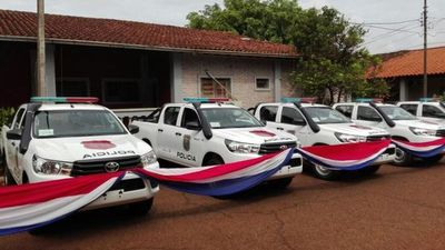 Patrulleras fueron entregadas a la Policía en el Este