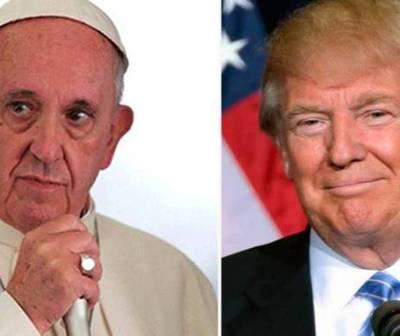 Donald Trump visitaría al Papa en mayo