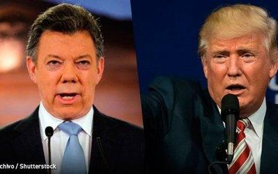 Presidentes Trump y Santos conversarán mañana sábado vía telefónica