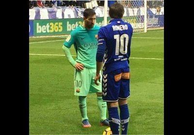 """El """"melli"""" lo intentó, pero Messi fue más"""