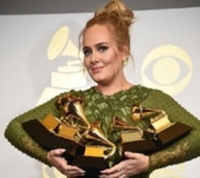 Adele, la gran ganadora de los Grammy