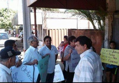 Manifestación contra abigeos en Quiindy