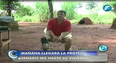 Estado reemplazará prótesis casera de agricultor