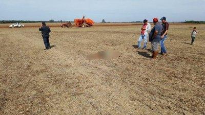Hallan cadáver en un sojal al sur de Alto Paraná