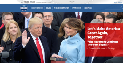 Rechazan desaparición de web en español de la Casa Blanca