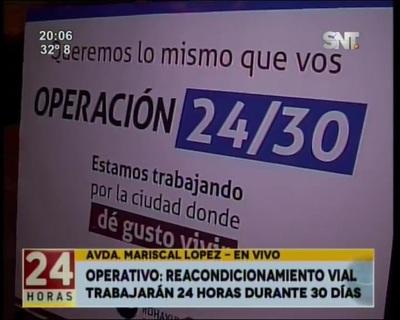 Municipalidad de Asunción comienza operativo que reacondicionará las calles