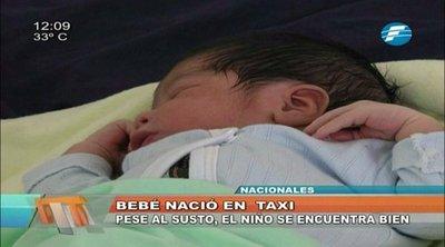 Mujer dio a luz en un taxi